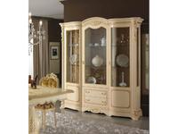 MobilPiu витрина 3-х дверная (слоновая кость, золото) Регина