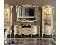 MobilPiu тумба под телевизор  (слоновая кость, золото) Опера