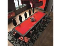 La Ebanisteria стол обеденный на 12 человек  240х120 (smoke, rosso piano) Quantum