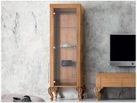 Modenese Gastone витрина 1 дверная SX (натуральный орех) Minimal Baroque