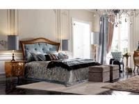 Modenese Gastone кровать двуспальная 160х195 (орех, ткань) Contemporari