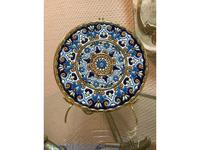 Cearco тарелка декоративная диаметр 21 см (золото, синий) Ceramico
