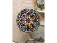 Cearco тарелка декоративная диаметр 17 см (золото) Ceramico