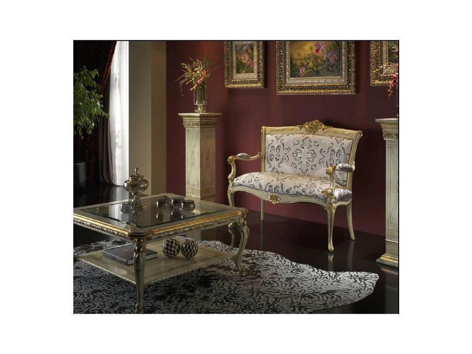 Moblesa диванчик с деревянными подлокотниками Love