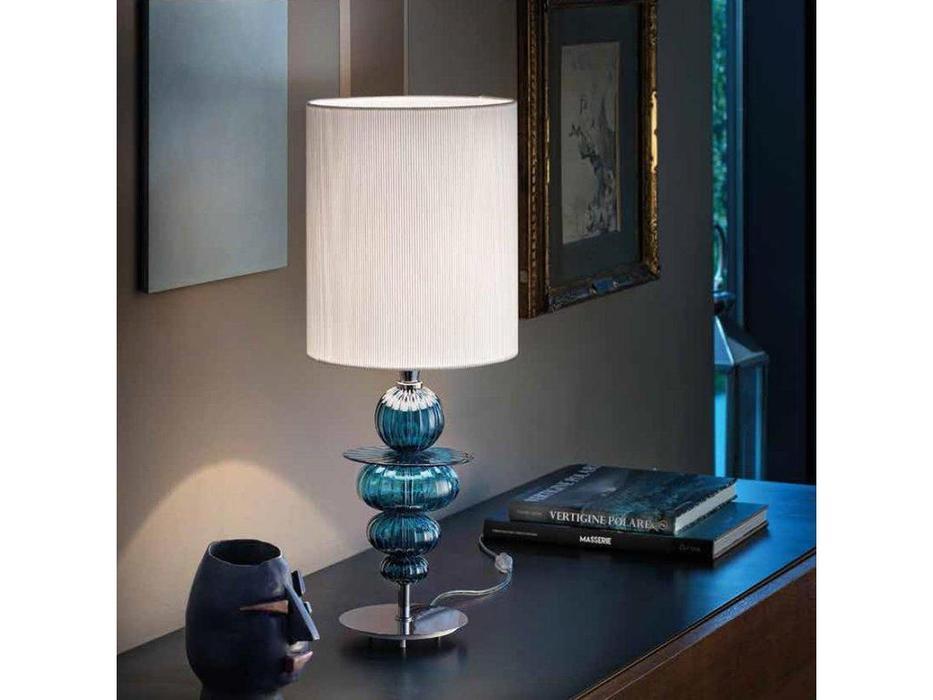 Sylcom лампа настольная  (хром, синий) Igloo