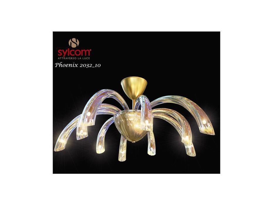 Sylcom люстра подвесная  (хром, хрусталь) Phoenix