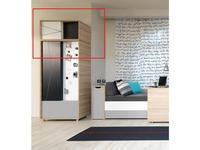 Vox антресоль шкафа с ящиками (дуб, черный) Evolve
