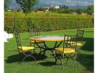 CeramicArte стол обеденный круглый 100х100 (разноцветные) Spello