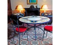 CeramicArte стол обеденный круглый 110х110 (разноцветные) Gubbio