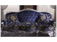 MobilPiu диван кат. VIP  обивка капитоне со стразами Сваровски (синий) Регина