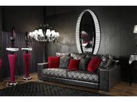 Tecni Nova диван 3-м (черный) Glamour