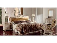 Techni Nova кровать двуспальная 150х200 (белый, золото) Nova