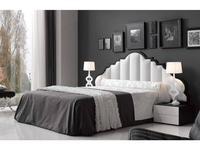 Coim кровать двуспальная 180х200 (черный, белый) Bellucci