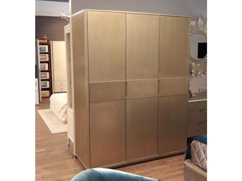 Fratelli Barri шкаф 3 дверный  (серебро 116) Rimini