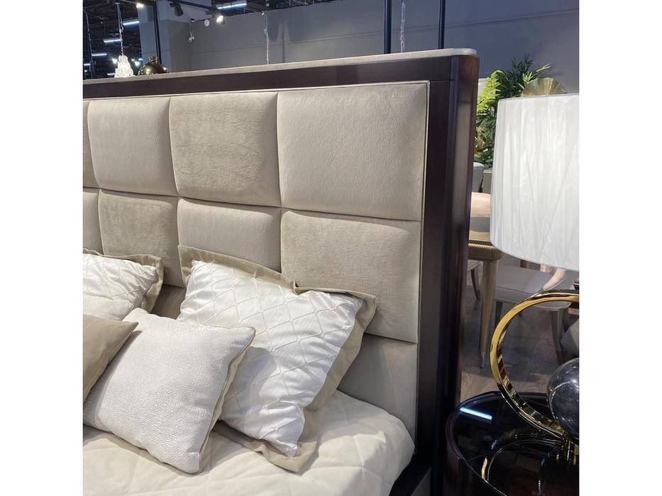 Fratelli Barri кровать двуспальная 180х200 (шпон вишни, серебро) Mestre
