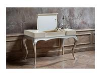 Fratelli Barri стол туалетный лак (перламутровый кремовый, серебро) Venezia