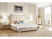 Fratelli Barri кровать двуспальная 180х200 (бежевый лак, ткань) Modena