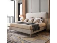 Fratelli Barri кровать 180х200 серебристо серый велюр (серебро) Rimini