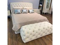 Fratelli Barri кровать 180х200 ткань JEANIE-02 (белый глянцевый лак) Rimini