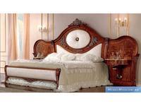 Barnini Oseo кровать двуспальная с прикроватными тумбами 184х203 (орех, золото) Reggenza Luxury
