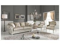 Keoma диван-кровать 3 местный ткань кат. Super (серебро) Dania