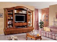 Tarocco Vaccari стенка в гостиную с модулем под ТВ (орех, золото) Paradise