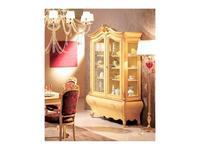 Tarocco Vaccari витрина 2-х дверная  (белый лак, золото) Paradise