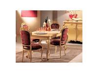 Tarocco Vaccari стул с подлокотниками ткань (белый лак, золото) Paradise