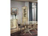 Tarocco Vaccari витрина угловая  (крем, роспись) Luxury