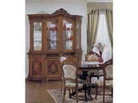 Tarocco Vaccari витрина 4-х дверная  (орех) Luxury