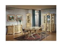 Tarocco Vaccari стол обеденный на 8 человек  (крем, роспись) Luxury