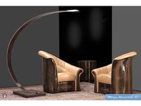 Formitalia кресло кожа (кремовый, коричневый) Paris