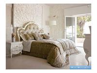 Volpi кровать двуспальная дерево class 4. ткань cat. B (слоновая кость) Notti