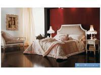Volpi кровать двуспальная 160х190  дерево class 4. ткань cat. B (слоновая кость) Notti