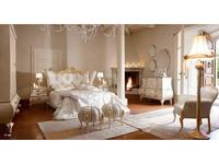 Volpi кровать двуспальная 180х200  дерево class 3. ткань cat. C (золото) Notti