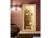 V. Villanova библиотека со стеклянными полками (bianco+oro) Infinity