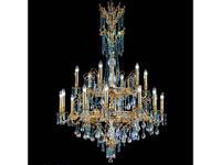 Masiero люстра подвесная 18×E14×40 W (золото, хрусталь голубой) Atelier