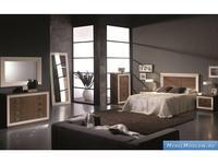 Mobax спальня современный стиль  (орех, белый) Moderni