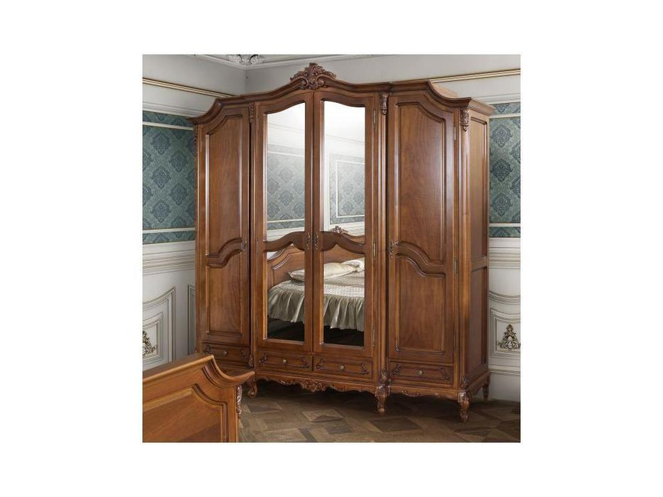 Simex шкаф 4 дверный  (орех) Роял