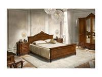 Simex кровать двуспальная 180х200 (орех) Клеопатра