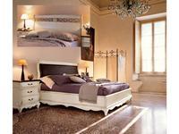 Cavio кровать двуспальная 160х200 с низким изножьем (белый патинированный) Madeira