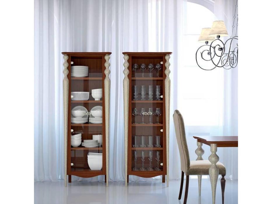 Mugali витрина 1 дверная  (коричневый) Galiano Pasion