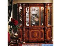 Armando Rho витрина 3-х дверная 1 ящик (орех, инкрустация) Elegance