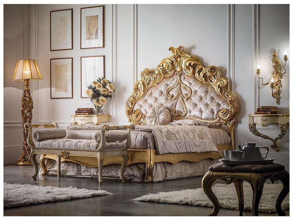 Stile Legno кровать двуспальная 180х200 (золото) Principessa