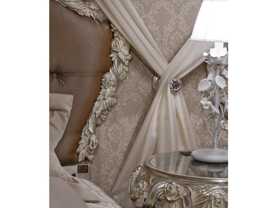 Stile Legno кровать односпальная 100х200 (серебрение)