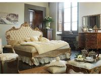 Stile Legno кровать двуспальная  (золото состаренное) Ludovica