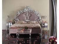 Stile Legno кровать двуспальная  (серебро) Principessa