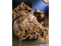 Stile Legno кровать односпальная  (золото) Eugenio