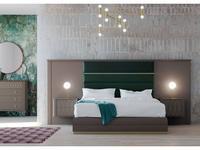 Mugali кровать 180х200 с под-м мех-м, с тумбами (бежевый) Maria
