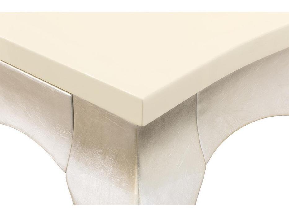 Fratelli Barri стол обеденный раскладной (кремовый лак, серебро) Venezia